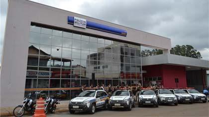 Foto do prédio do novo quartel da PM em Barão de Cocais
