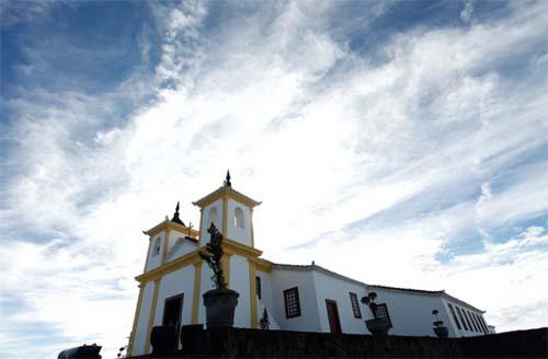 Foto da igreja elevada a Basília Ermida de Nossa Senhora da Piedade