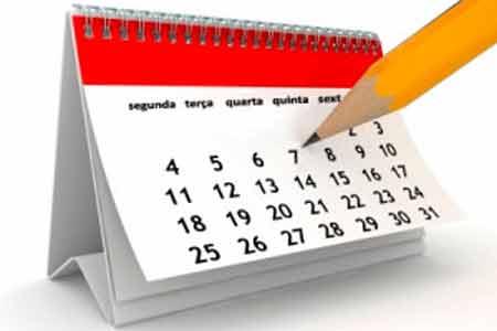 Foto imagem de calendário