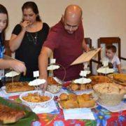 Foto de pratos no concurso do Festival de Quitandas