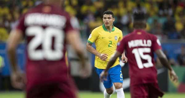 foto de lance de Brasil x Venezuela