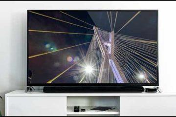 Foto ilustrativa com uma televisão