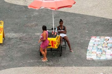 Foto de trabalhador ambulante