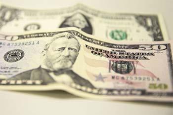 Imagem ilustrativa, notas de dólar