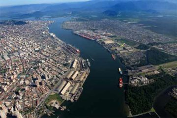 Foto ilustrativa, área portuária