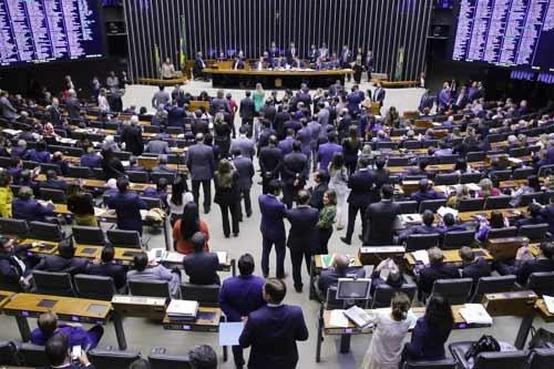 Foto do plenário da Câmara