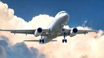 Foto decorativa, avião em voo