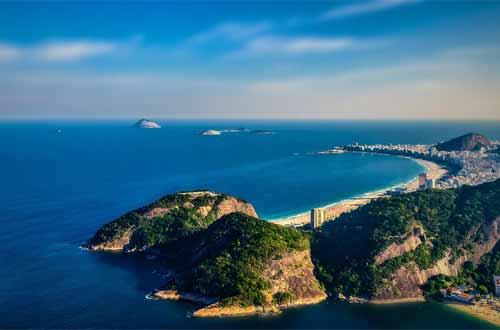 Foto de vista de porção do oceano no Rio de Janeiro