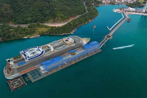 Projeto do terminal de passageiros exclusivo de Balneário Camboriú.